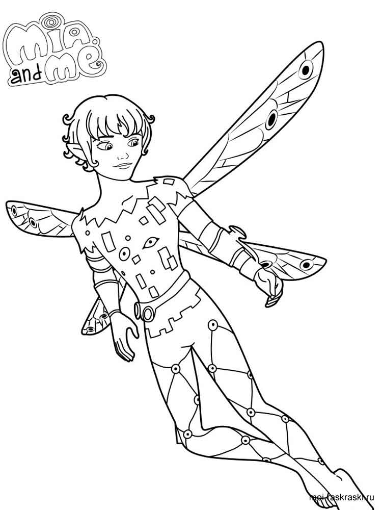 Mia and me coloring pages. Free Printable Mia and me ...