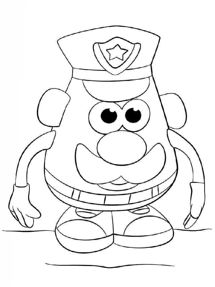 Mr Potato Head Coloring Pages Free Printable Mr Potato