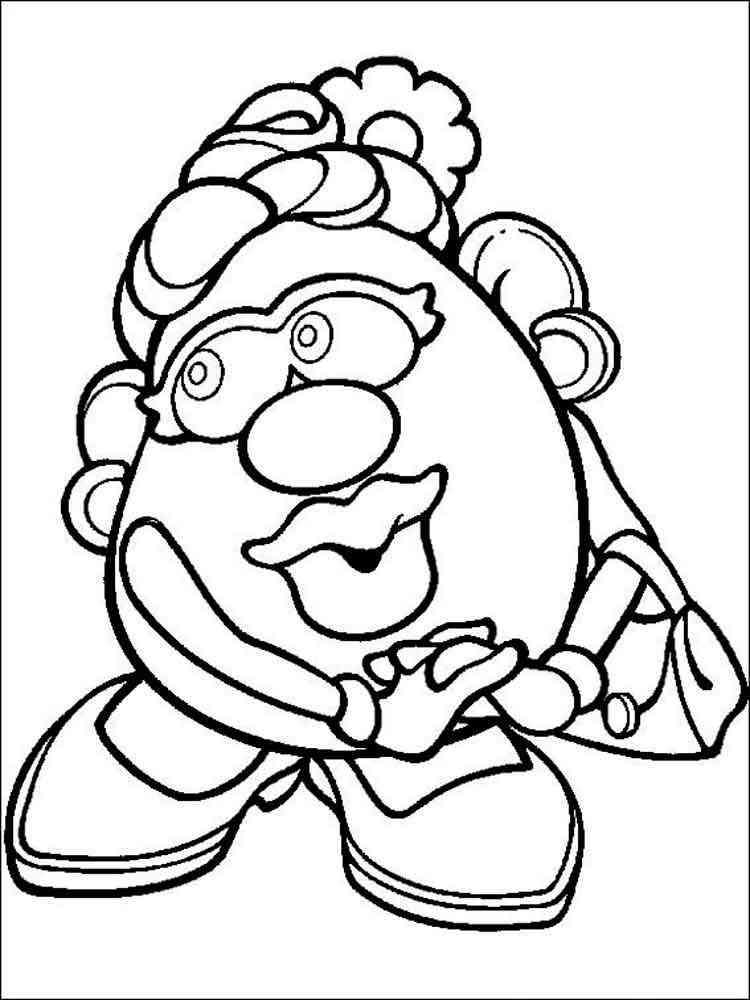Mr Potato Head coloring pages. Free Printable Mr Potato ...