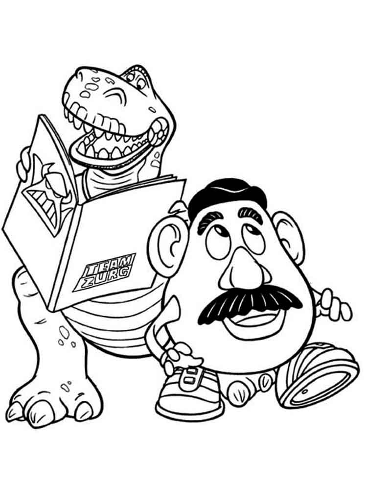 Mr Potato Head Coloring Pages Free Printable Mr Potato