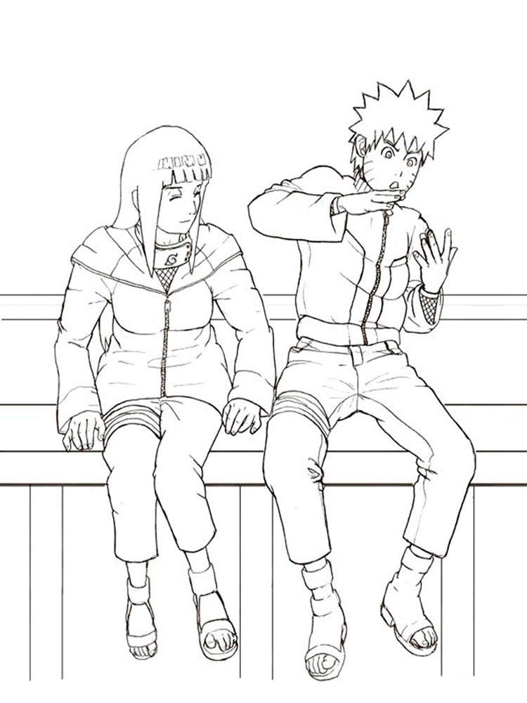 Naruto coloring pages Free Printable