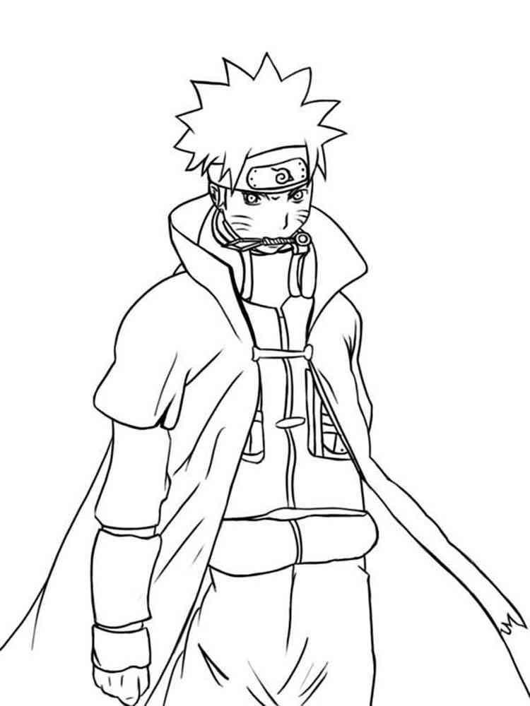 Akatsuki Team Coloring Pages For Kids #g3J : Printable Naruto ... | 1000x750
