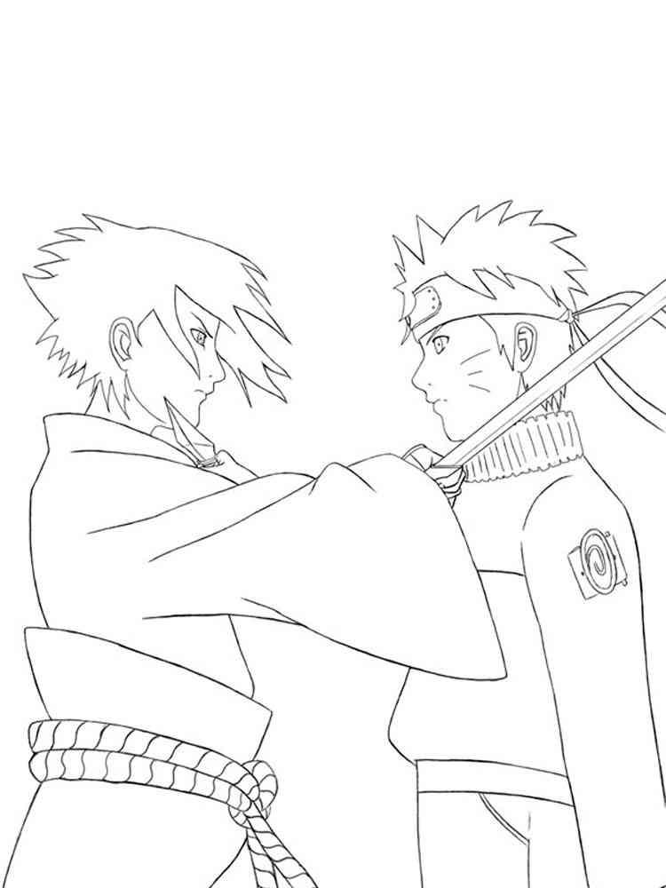 Naruto coloring pages Free Printable Naruto coloring pages