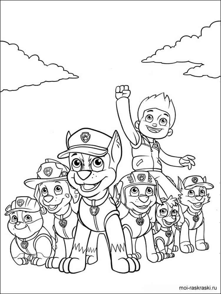 Paw Patrol Coloring Pages Free Printable Paw Patrol