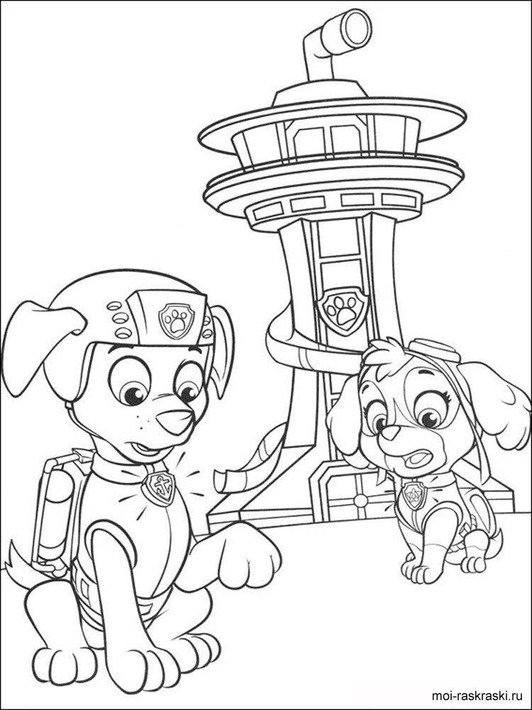 paw coloring page - paw patrol coloring pages free printable paw patrol