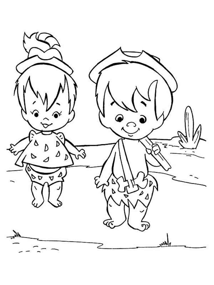 Pebbles and Bam Bam coloring pages. Free Printable Pebbles ...