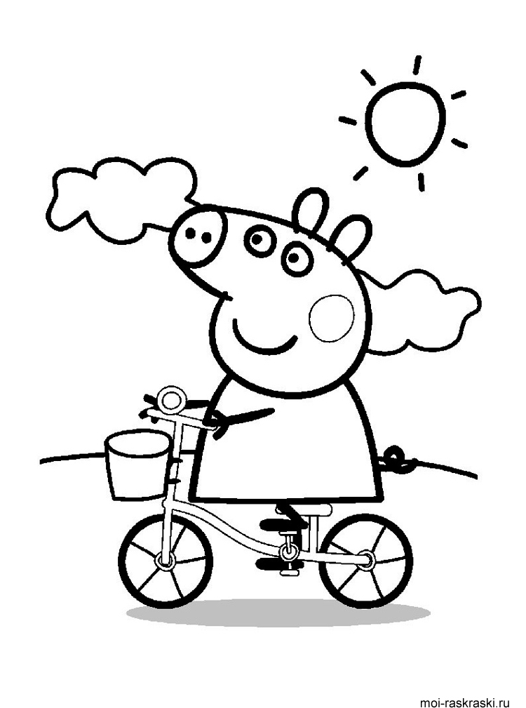 Peppa Pig coloring pages Free