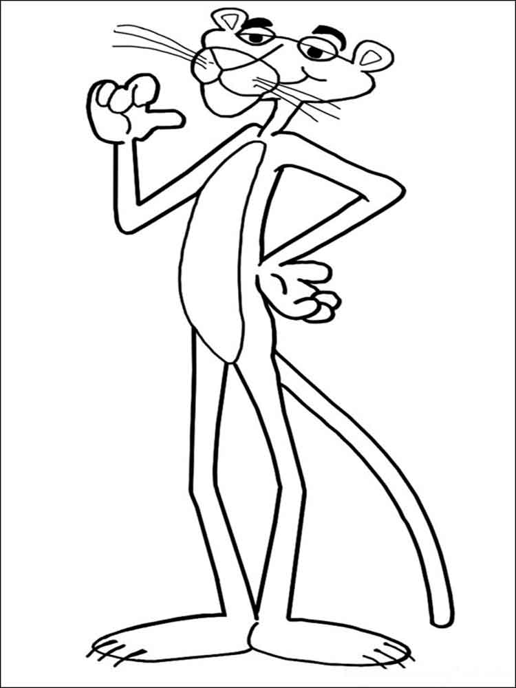 Pink Panther Coloring Pages Free Printable Pink Panther