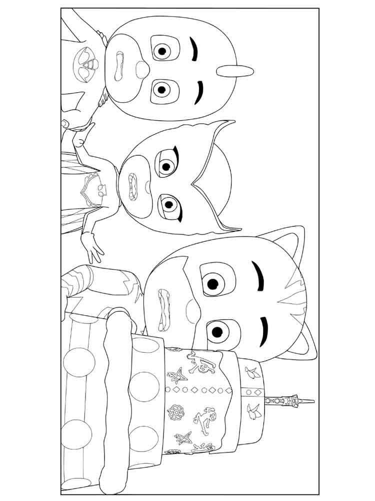 PJ Masks Coloring Pages Free Printable PJ Masks Coloring