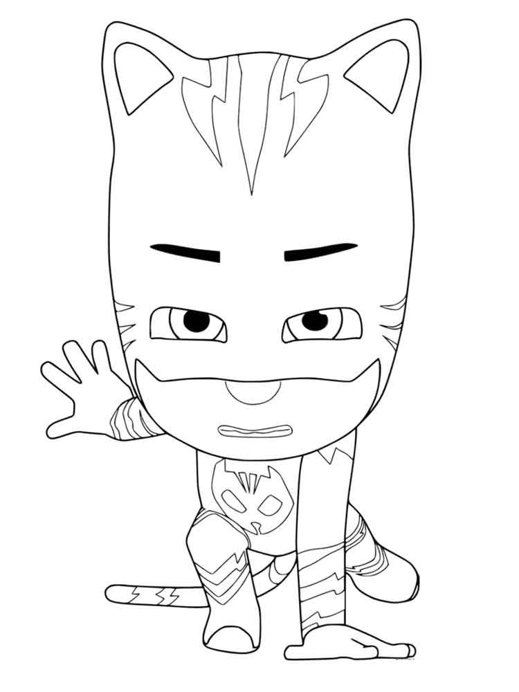 PJ Masks coloring pages Free Printable PJ Masks coloring
