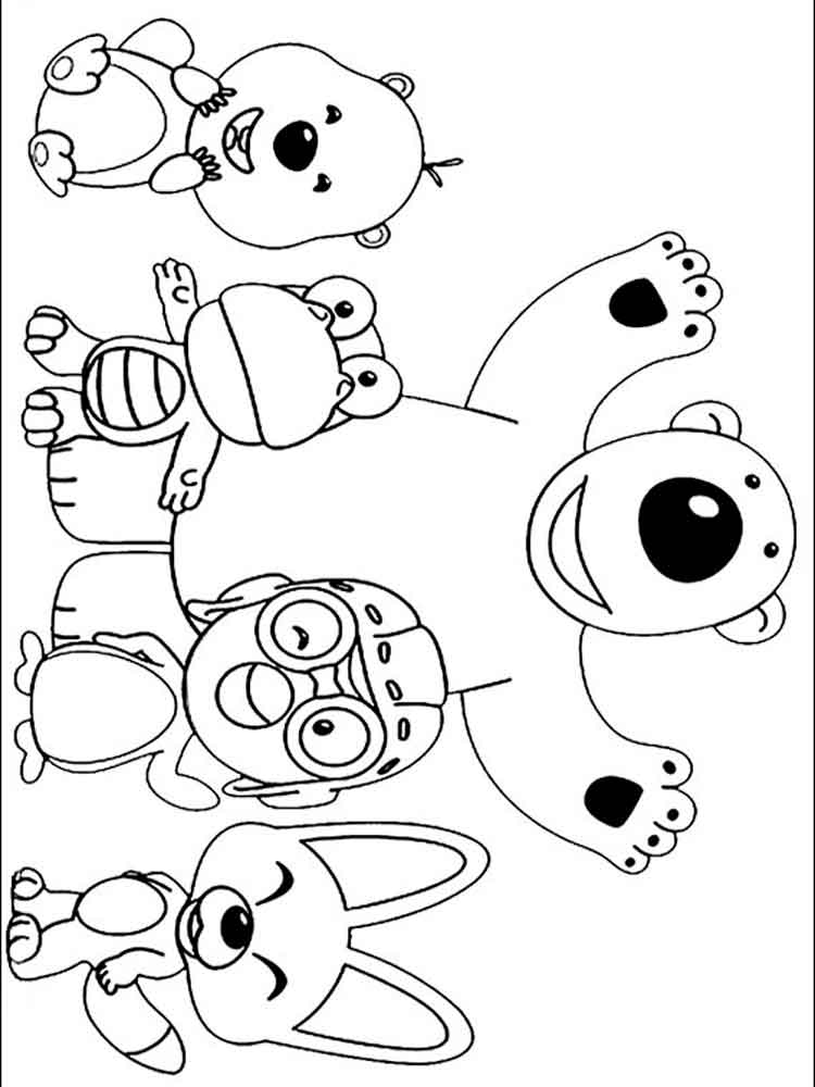 Pororo The Little Penguin Coloring Pages. Free Printable