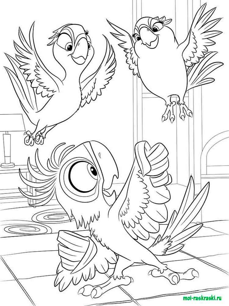 Rio and Rio 2 coloring pages Free