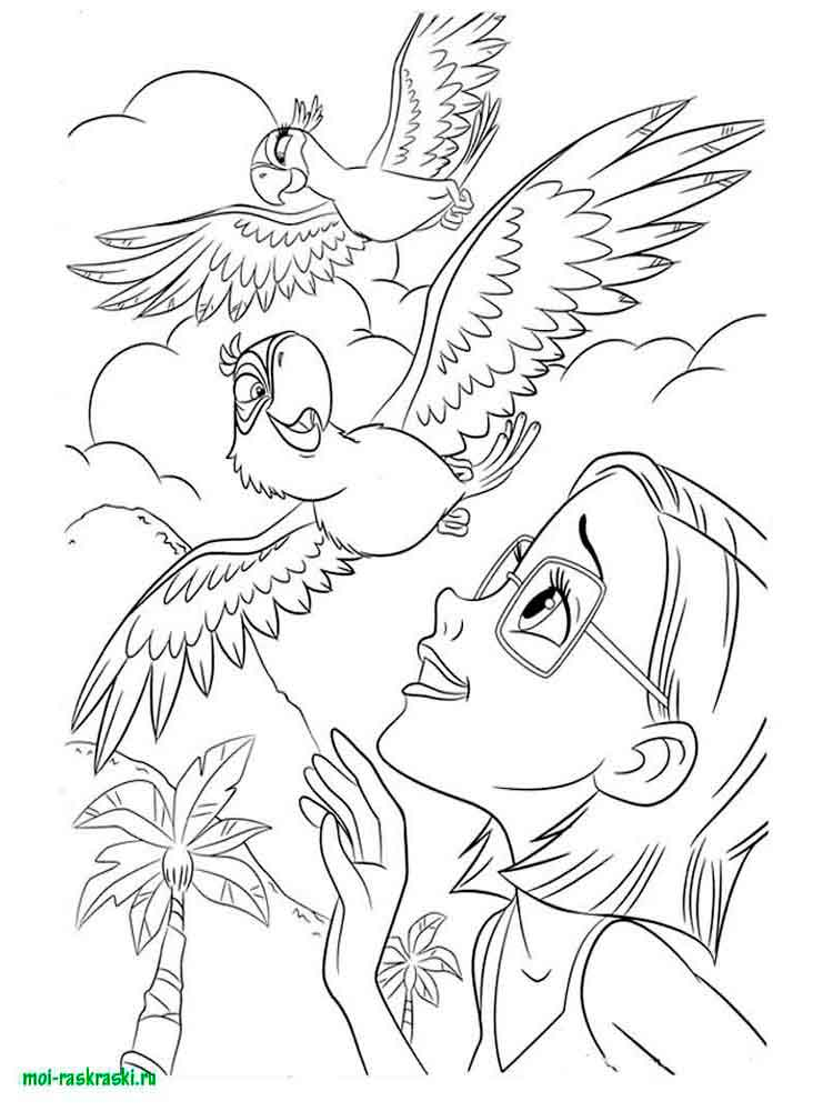 Rio and Rio 2 coloring pages. Free Printable Rio and Rio 2 ...