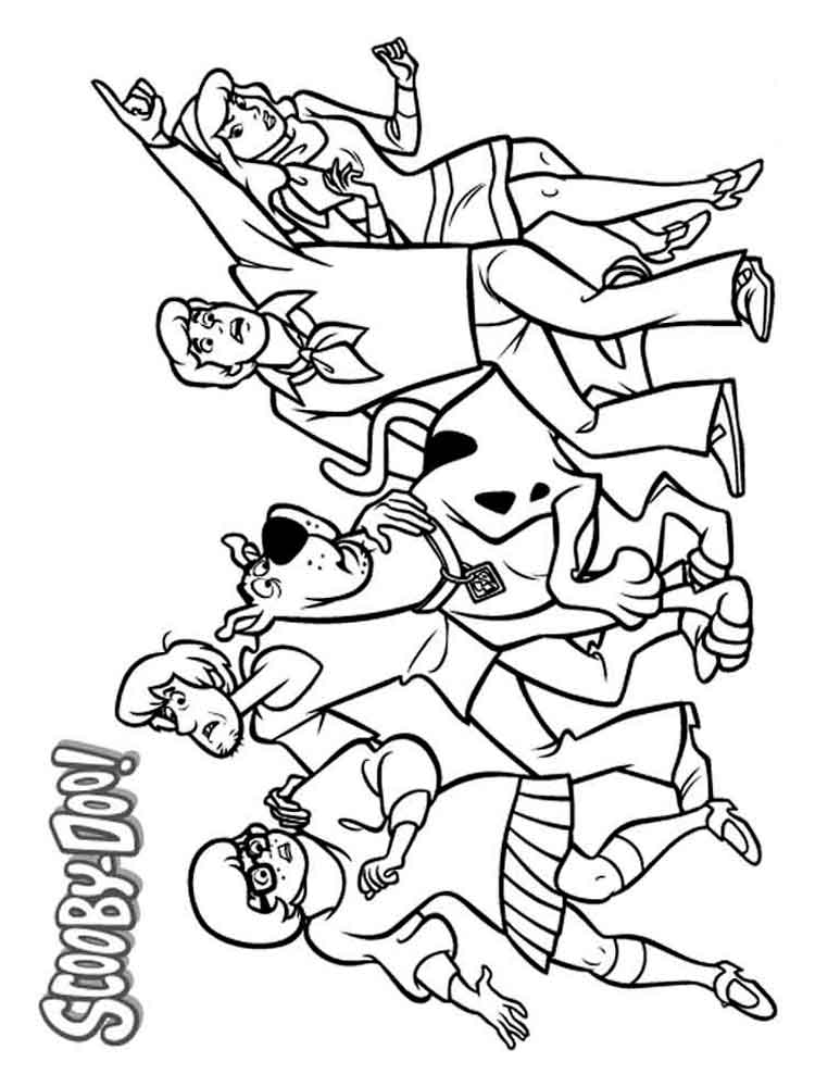 Scooby Doo coloring pages Download