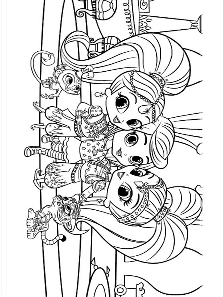 Shimmer And Shine Coloring Pages Pdf : Shimmer and shine coloring book pages