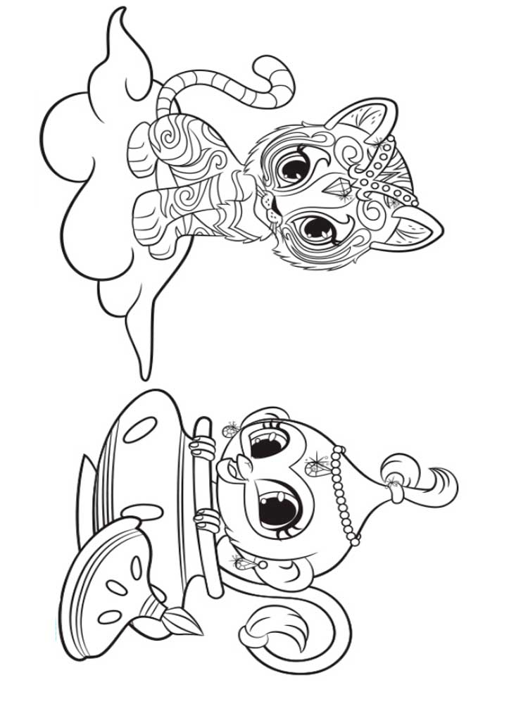 Mickey En Minnie Mouse Kerst Kleurplaten Shimmer And Shine Coloring Pages Free Printable Shimmer