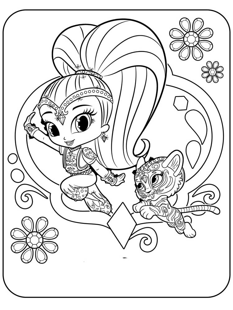coloring pages and more com | Shimmer and Shine coloring pages. Free Printable Shimmer ...