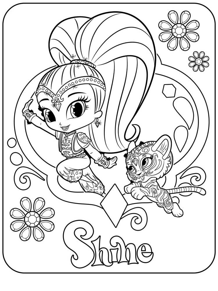 Shimmer and shine coloring pages 18