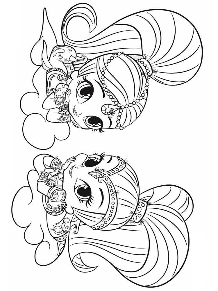 Shimmer and Shine coloring pages. Free Printable Shimmer ...