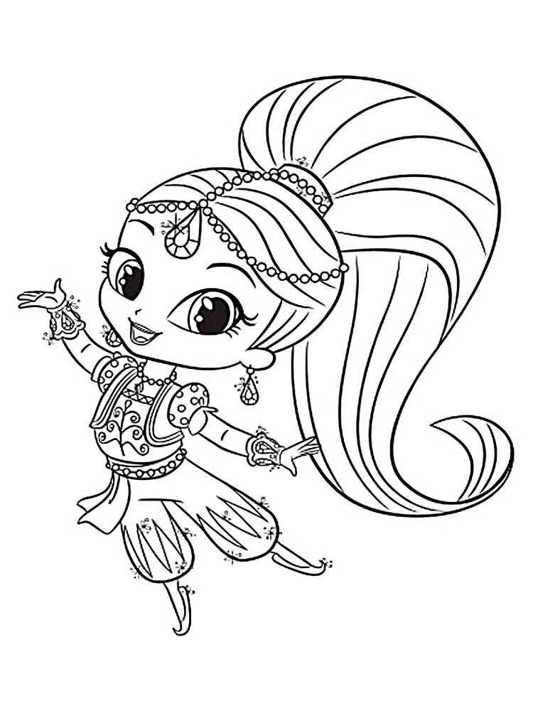 nickelodeon shimmer and shine coloring pages | Shimmer And Shine Coloring Coloring Coloring Pages