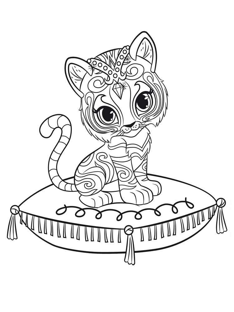 Shimmer and Shine coloring pages Free Printable Shimmer
