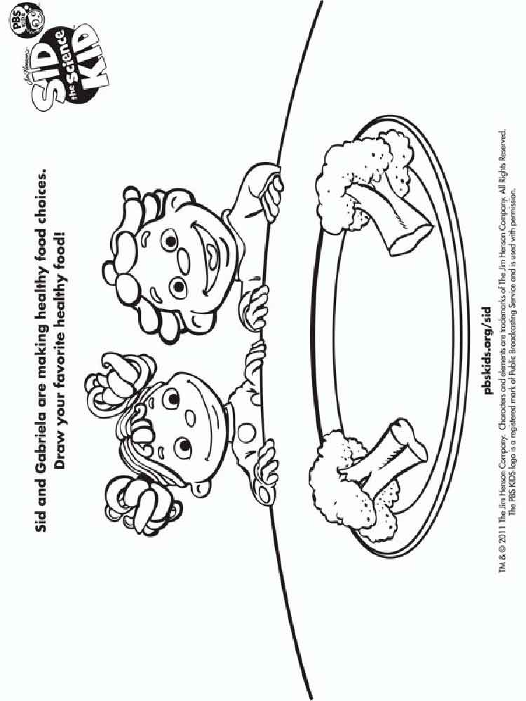 Sid the Science Kid coloring pages Free Printable Sid the Science