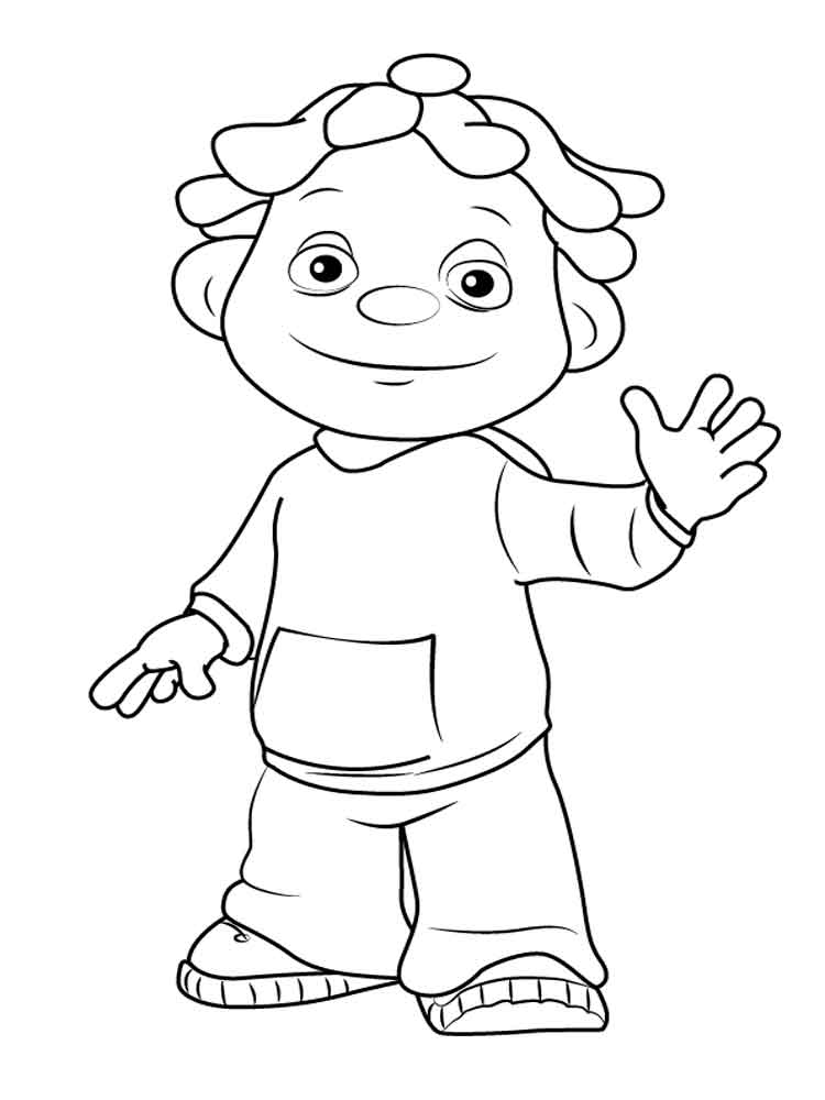 Sid the science kid coloring pages 5