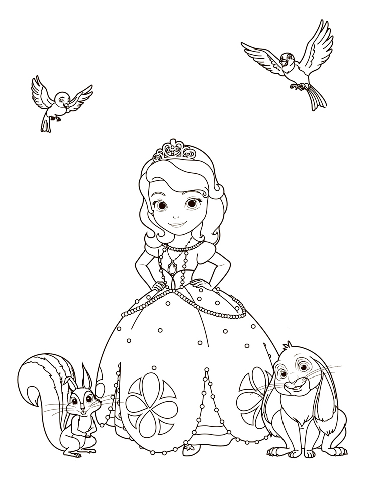 sofia the first coloring pages  free printable sofia the