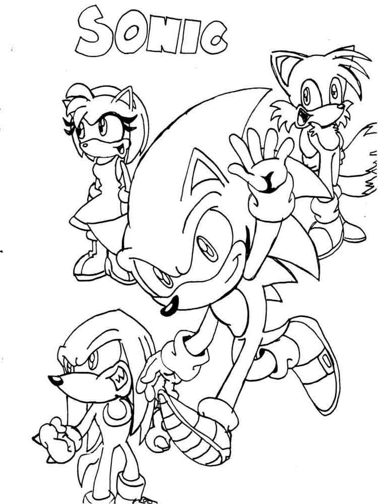 Free Printable Sonic The Hedgehog Coloring Pages