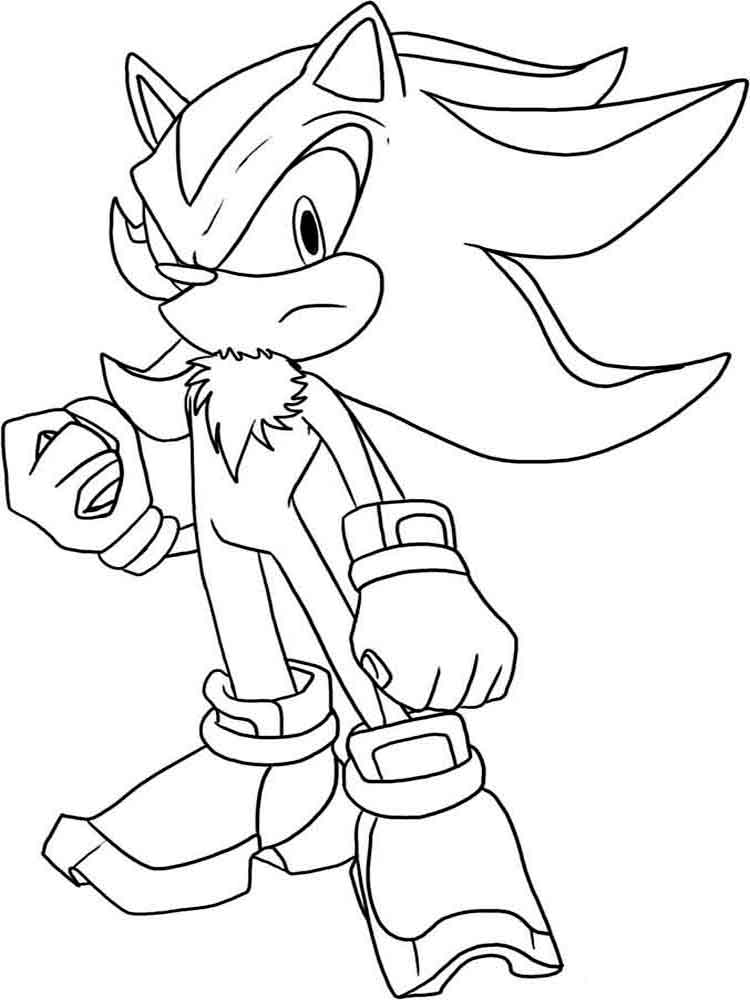 sonic coloring pages 2 - Free Printable Sonic Coloring Pages 2
