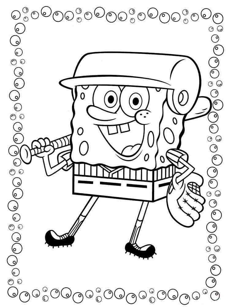 SpongeBob coloring pages Download and print SpongeBob