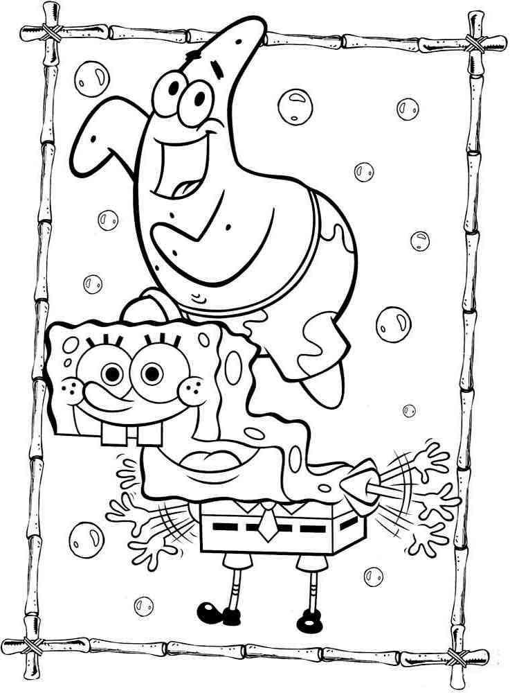 SpongeBob coloring pages Download