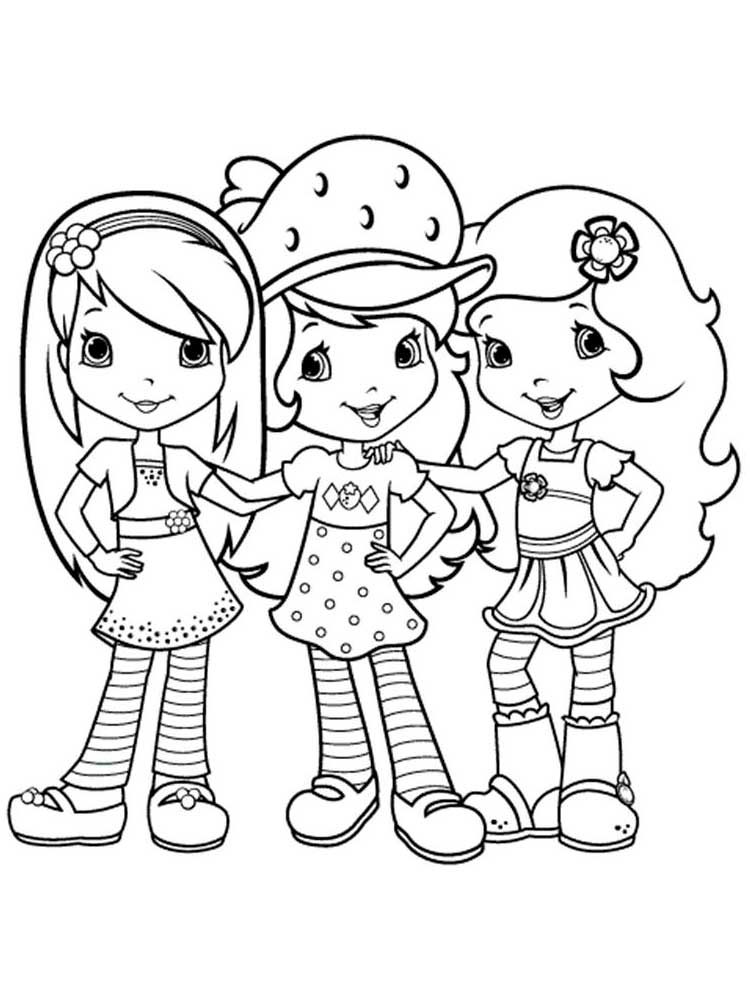 Strawberry Shortcake And Friends Coloring Pages - GetColoringPages.com | 1000x750