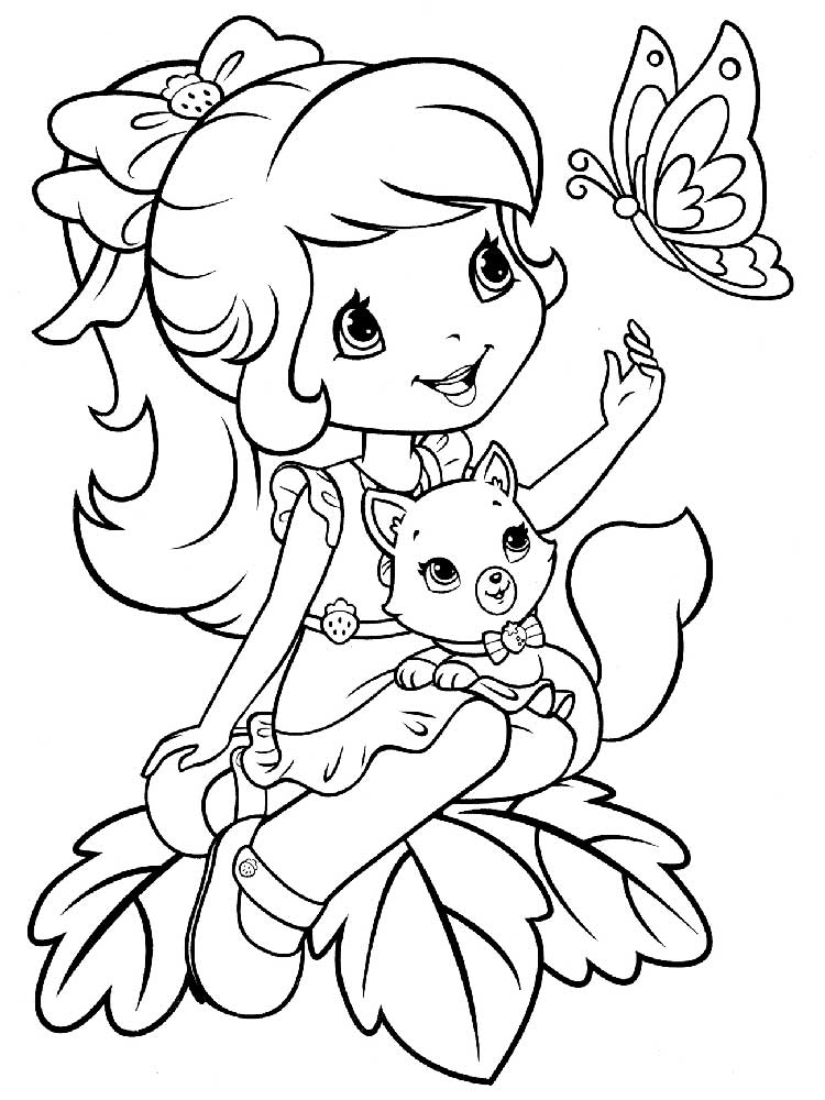 Strawberry Shortcake coloring pages Free Printable Strawberry