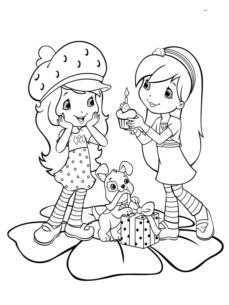 Strawberry Shortcake Coloring Pages Free Printable