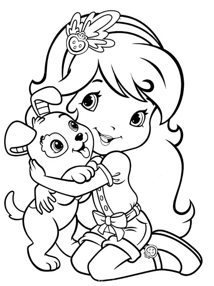 christmas strawberry shortcake coloring pages - photo#30