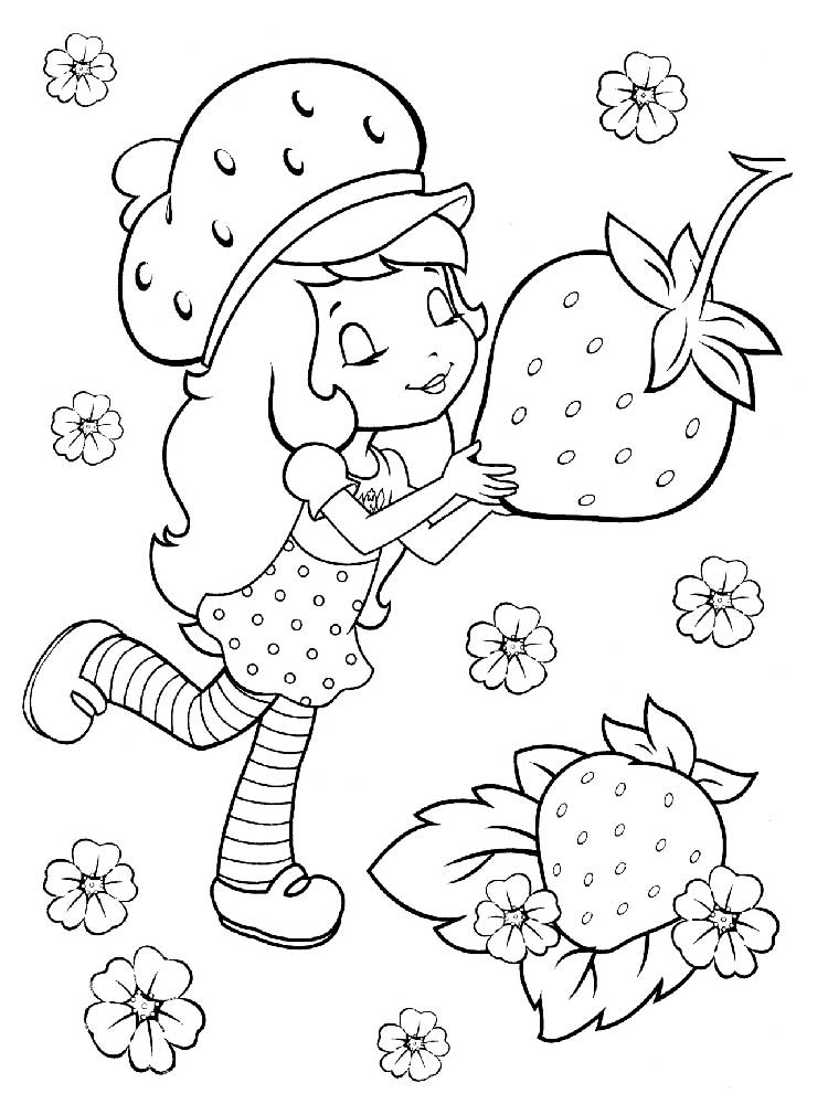strawberry shortcake coloring pages 5