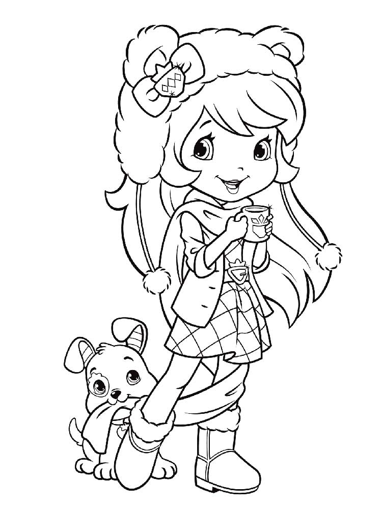christmas strawberry shortcake coloring pages-#7