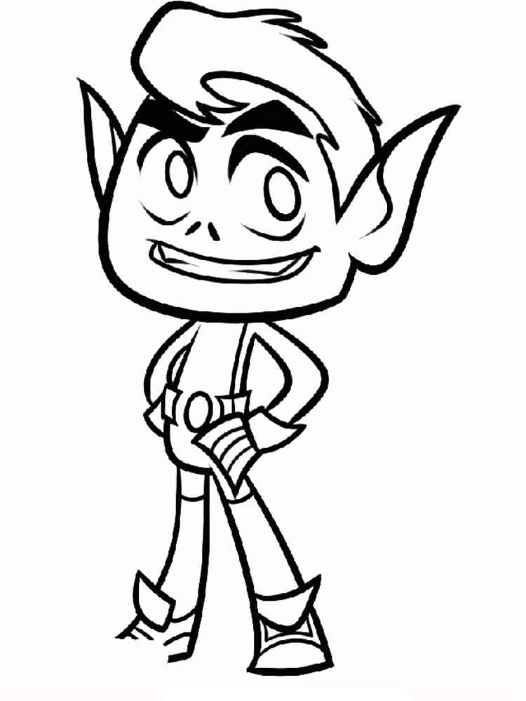 Teen titans go coloring pages free printable teen titans for Teen titans go color pages