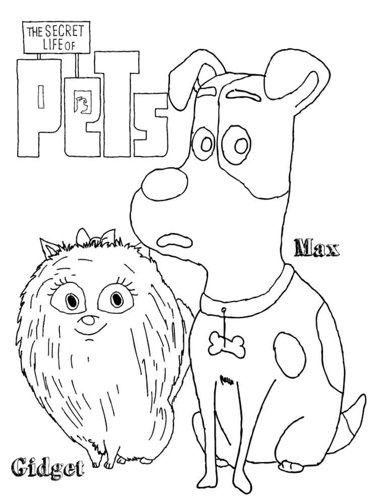 The Secret Life Of Pets Coloring Pages Free Printable The Secret Pets Coloring Pages