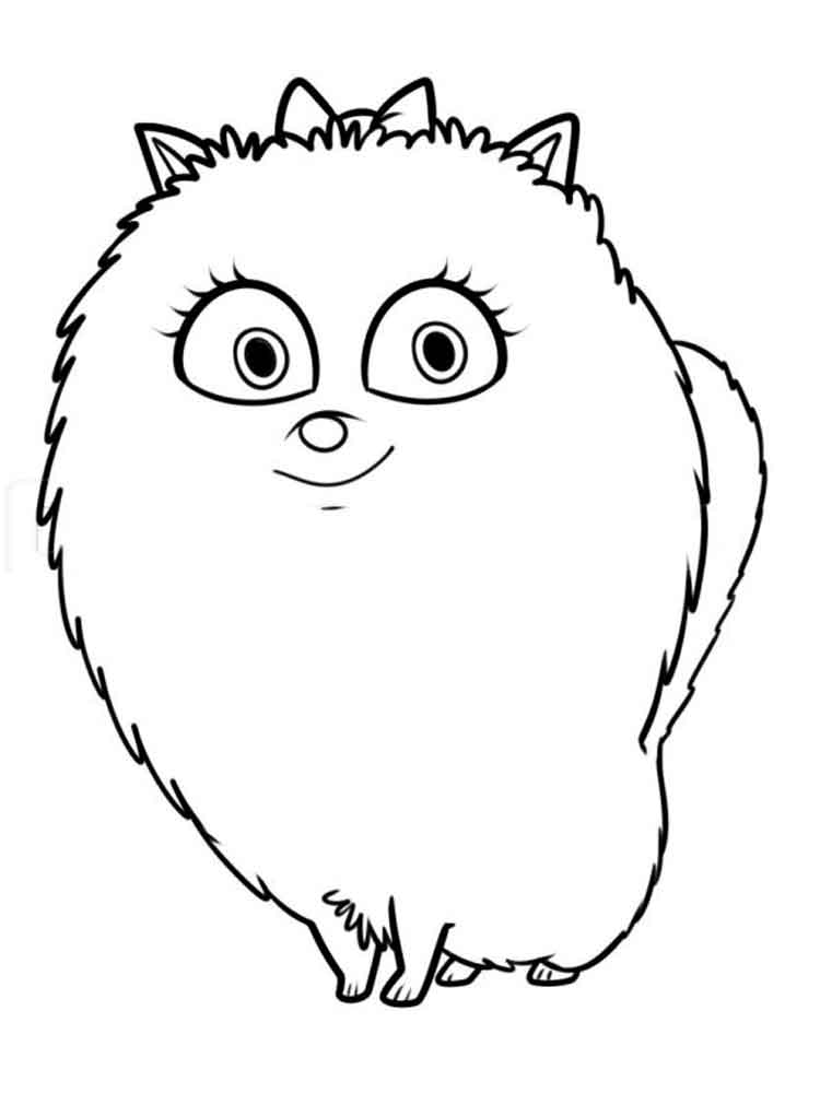 The Secret Life Of Pets Coloring Pages Free Printable The
