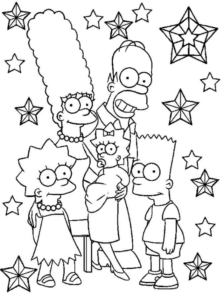 The simpsons coloring pages download and print the for Coloring pages simpsons
