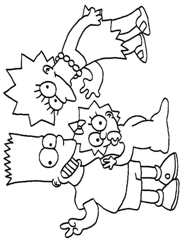 The Simpsons coloring pages Download