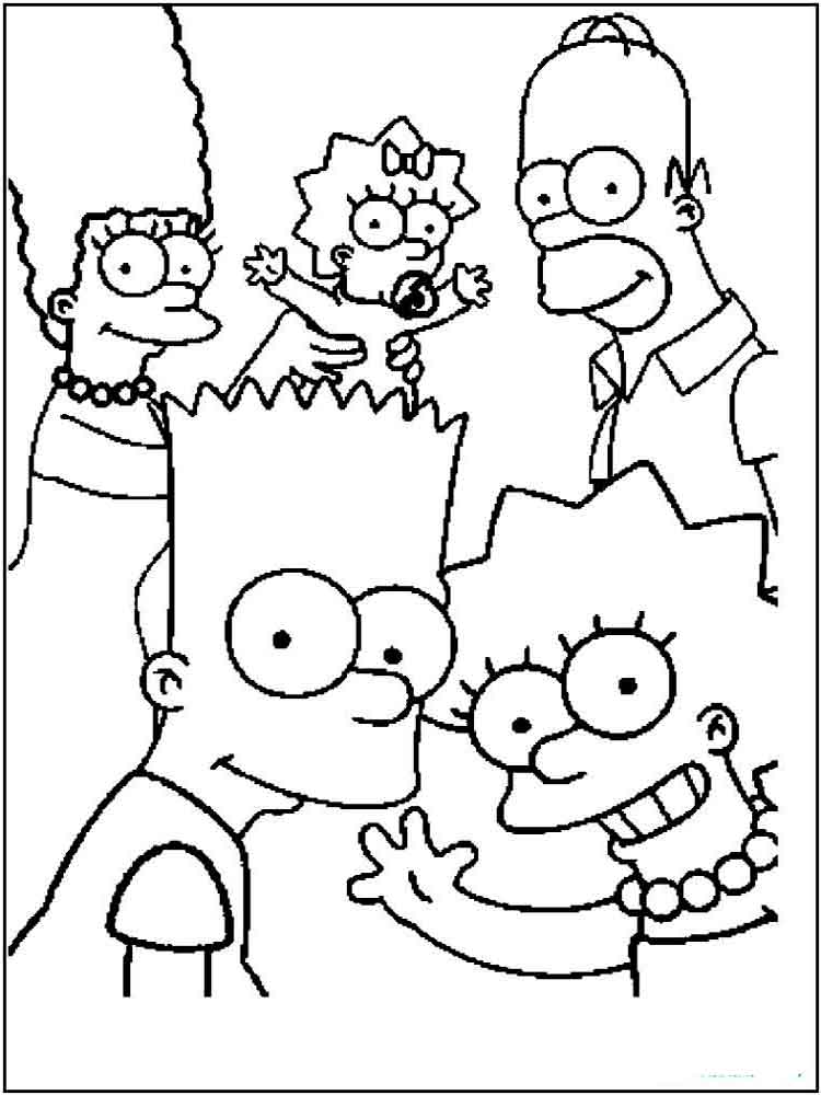 The Simpsons coloring pages. Download and print The ...