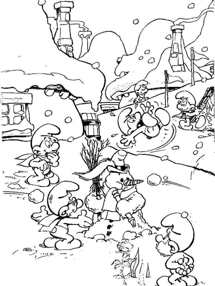 The Smurfs Coloring Pages Download And Print The Smurfs Coloring Smurfs Coloring Pages
