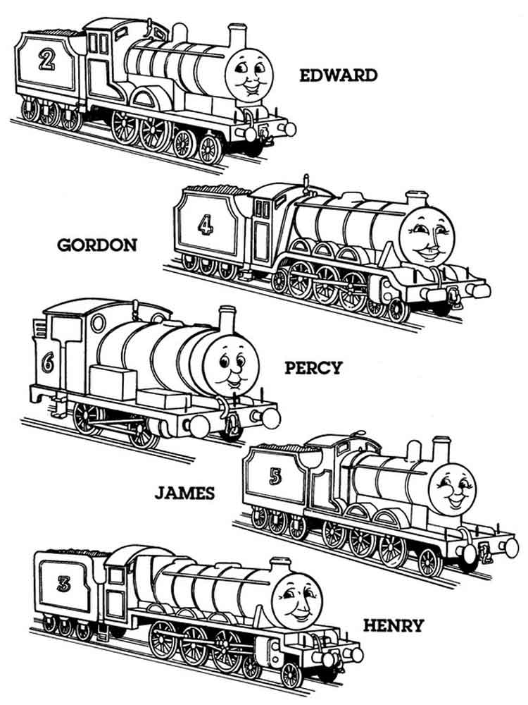 Thomas friends coloring pages free printable thomas for Thomas the train color page