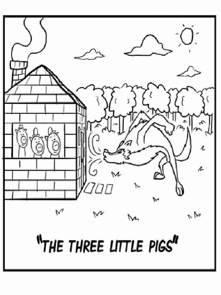 three little pigs coloring pages  free printable three little pigs coloring pages