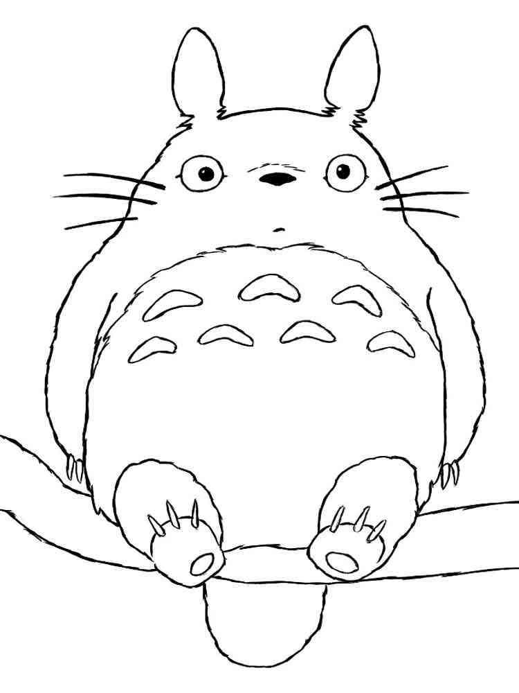 totoro coloring pages - Totoro Coloring Pages