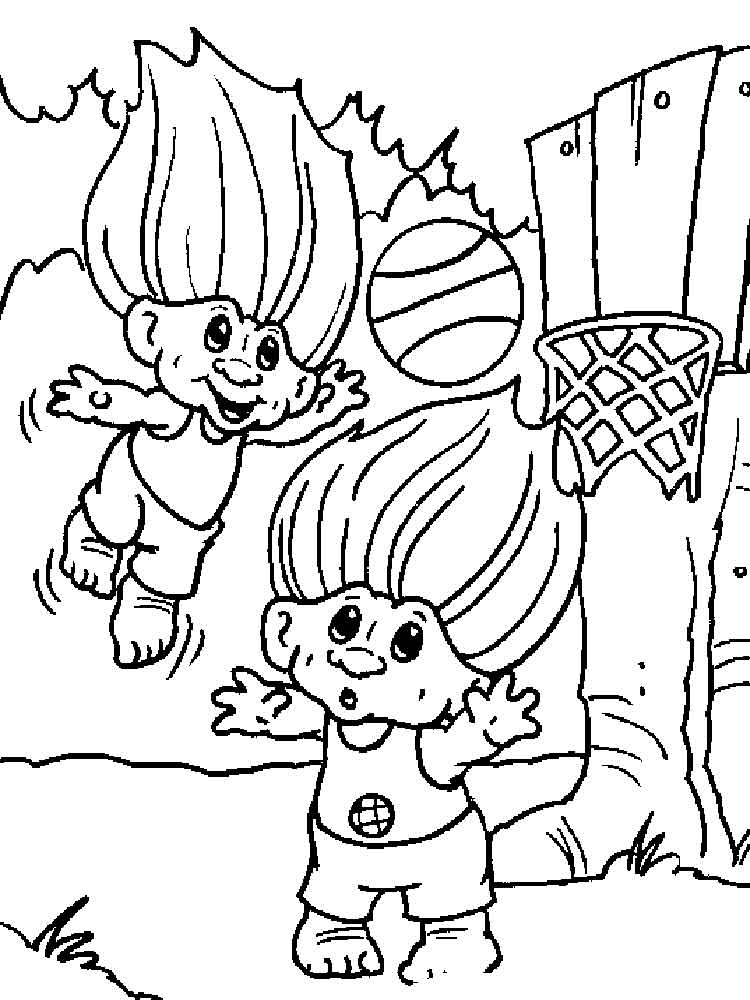 trolls coloring pages 1 - Trolls Coloring Pages