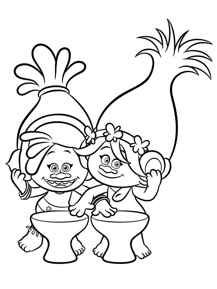 Trolls coloring pages Free Printable